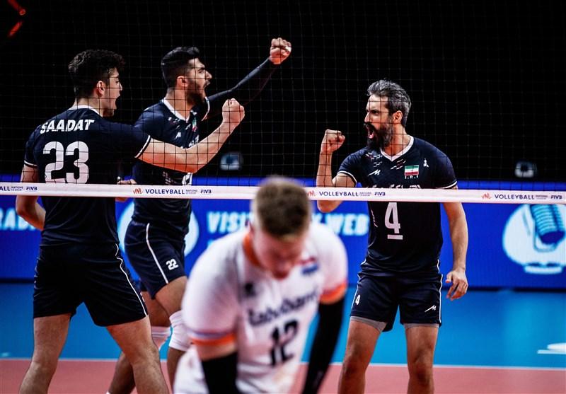 برتری چشمگیر والیبال ایران در برابر هلند با بازگشت معروف